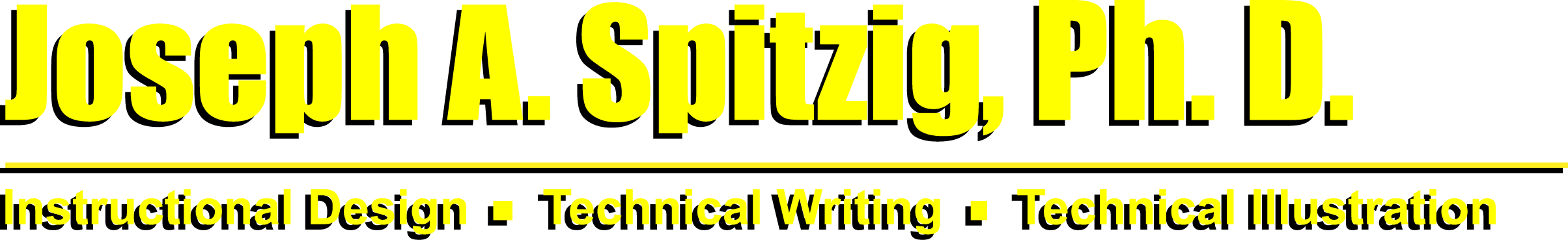 Joseph A. Spitzig - Instructional Design - Technical Writing - Technical Illustration
